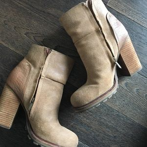 Sam Edelman Tan Booties